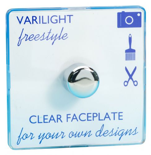 Varilight TIFP401C Freestyle Clear 1 Gang 2-Way Push-On/Off Dimmer 60-400W V-Dim